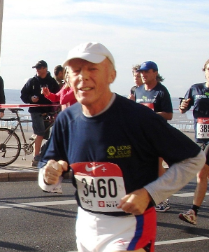 Tony Scott running in Nice. Photo: https://www.southwalesargus.co.uk/news/gwentnews/11706515.Newport_teacher_and_GB_athlete_gets_MBE/