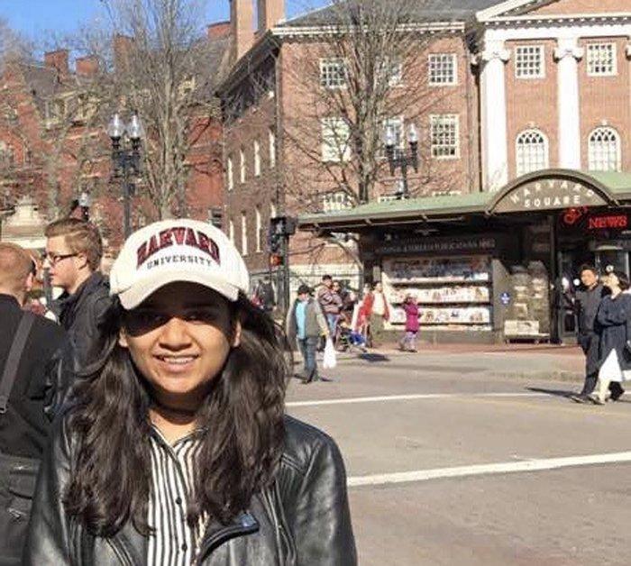 Sanjana who studies via home education in India