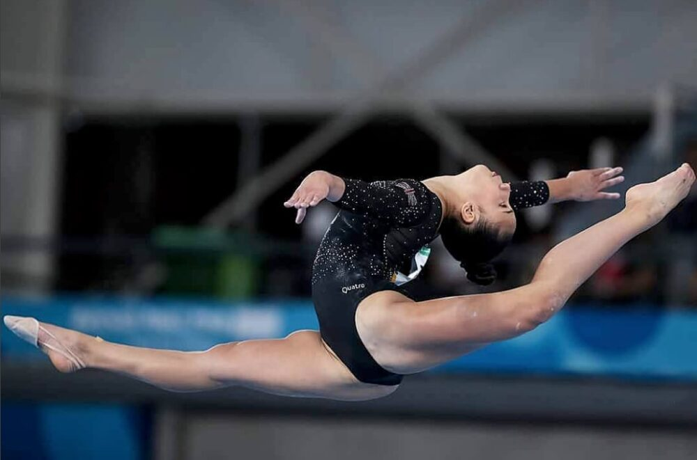 homeschooling gymnast Amelie Morgan