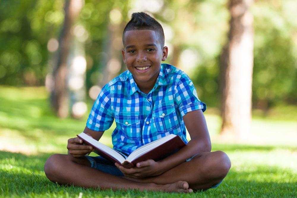 Boy studying secondary English