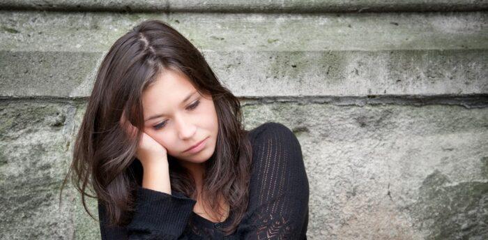 girl with School phobia