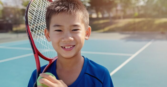Young elite tennis player