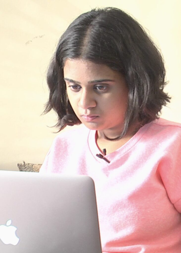 Sanjana is homeschooling in India and striving for academic excellence