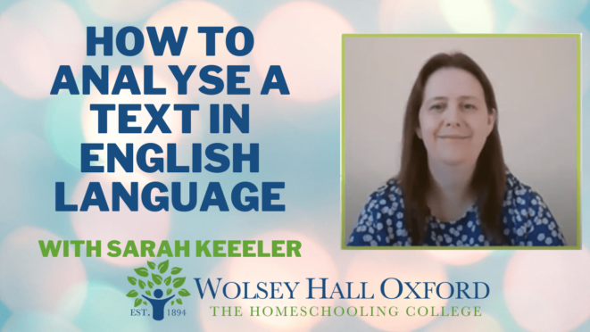 How to analyse a text in English language