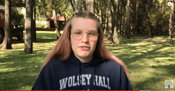 Salome is homeschooling in South Africa