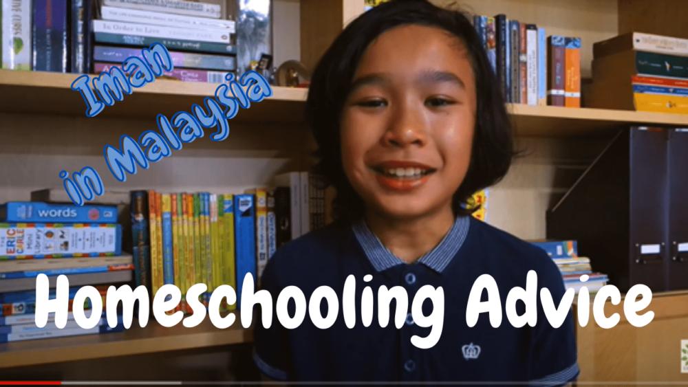 Iman is homeschooling in Malaysia
