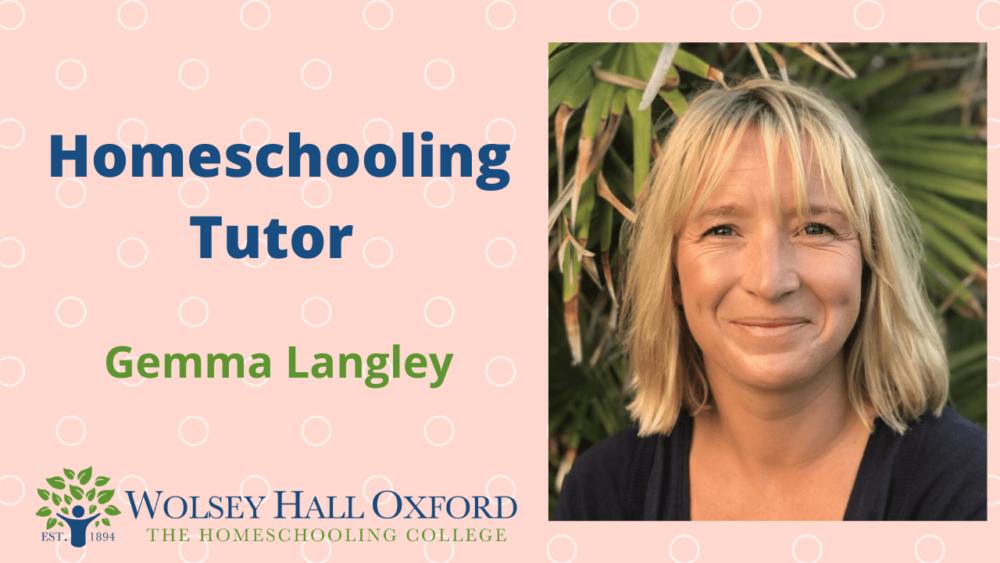 homeschooling tutor Gemma Langley