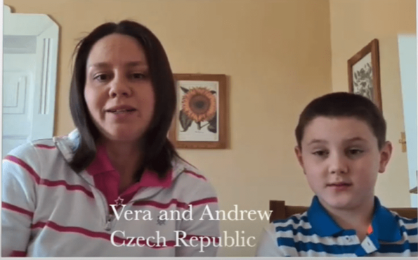 Meet Andrew and Vera who are primary homeschooling