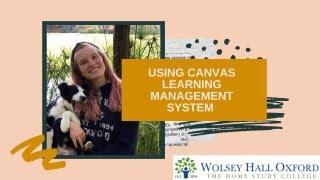 How homeschooling works - online learning platform Canvas