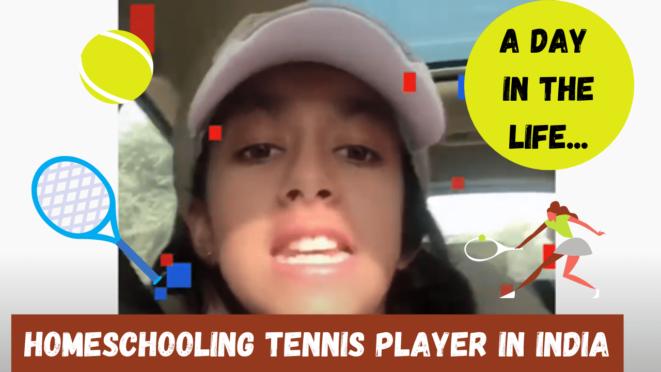 homeschooling tennis player in India