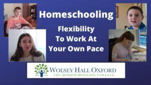 the flexibility of homeschooling